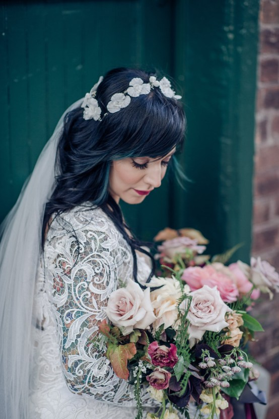 Edgy & Romantic Distillery Wedding | AGI Studio 24