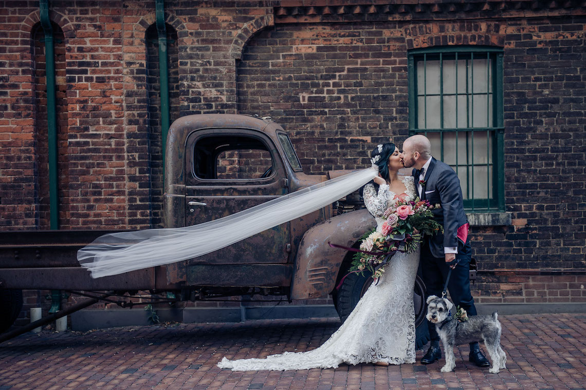 Edgy & Romantic Distillery Wedding | AGI Studio 7