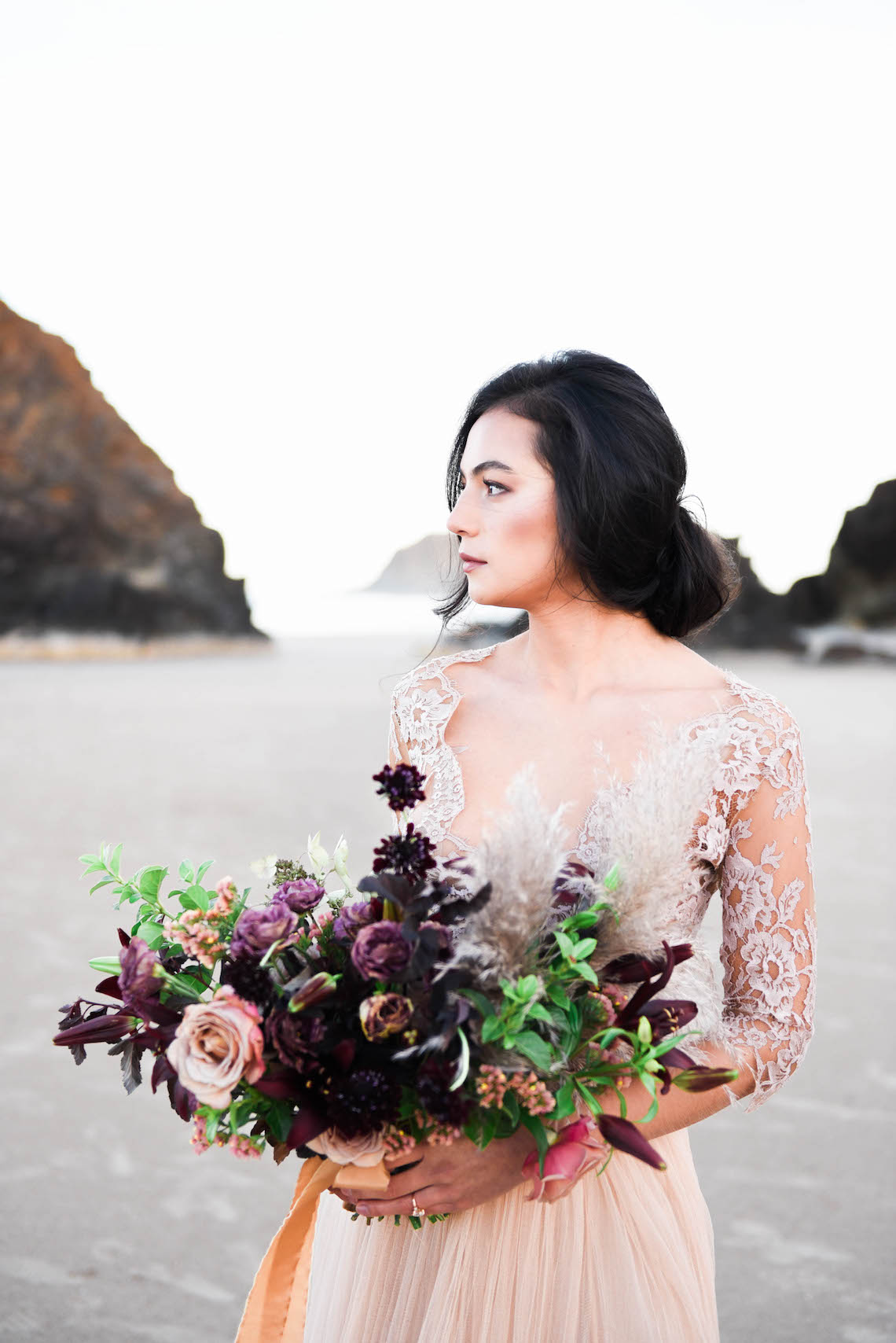 Ethereal Pacific Northwest Beachy Wedding Inspiration | Jessica Lynn Photography 17