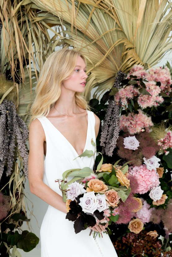 Modern Silk Gowns & Floral Wall Inspiration For The Hip Bride | Anastasia Fua elliftheartist 16