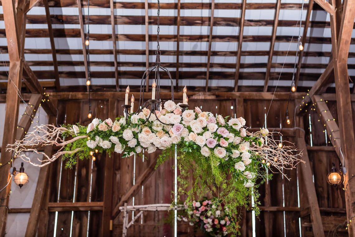 Romance In The Rain; Rustic Barn Wedding Ideas With Dramatic Florals | Flor de Casa Designs 19
