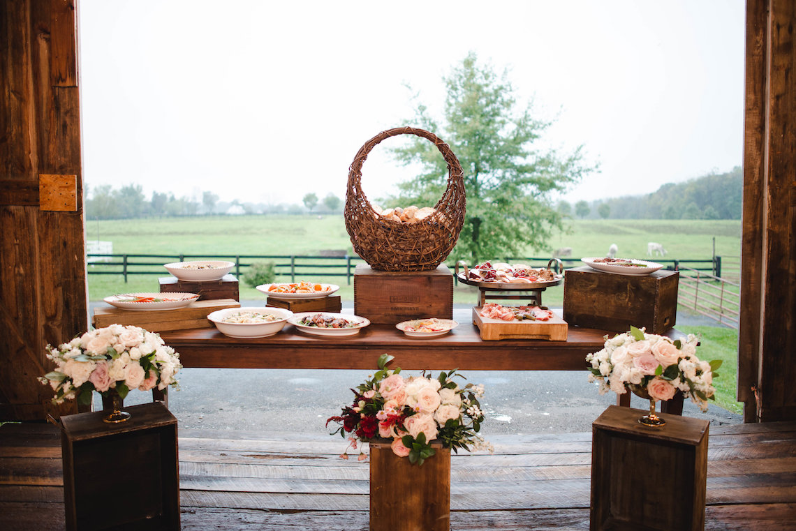 Romance In The Rain; Rustic Barn Wedding Ideas With Dramatic Florals | Flor de Casa Designs 24