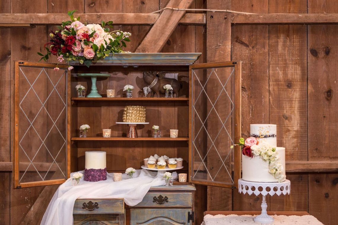 Romance In The Rain; Rustic Barn Wedding Ideas With Dramatic Florals | Flor de Casa Designs 26