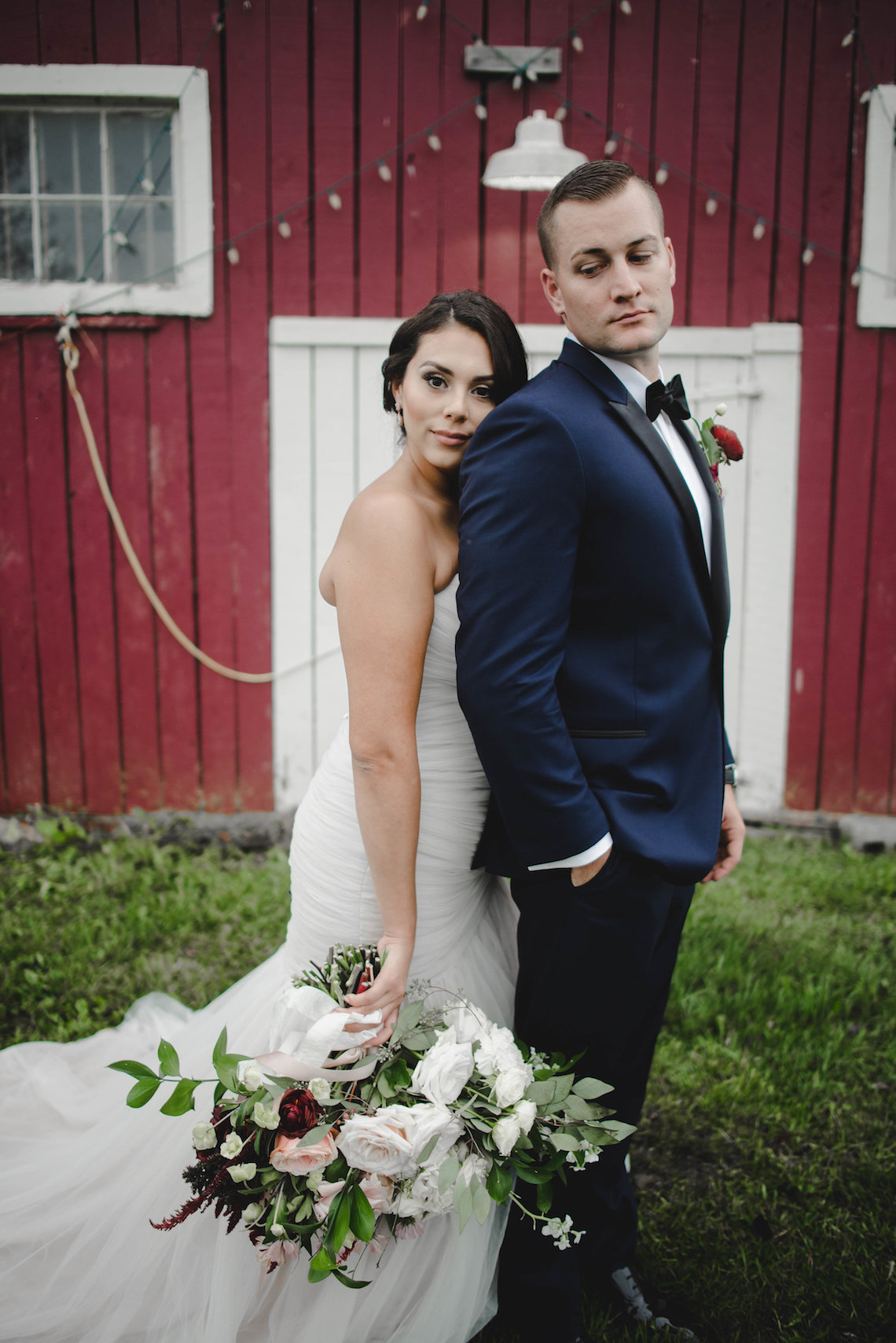 Romance In The Rain; Rustic Barn Wedding Ideas With Dramatic Florals | Flor de Casa Designs 4