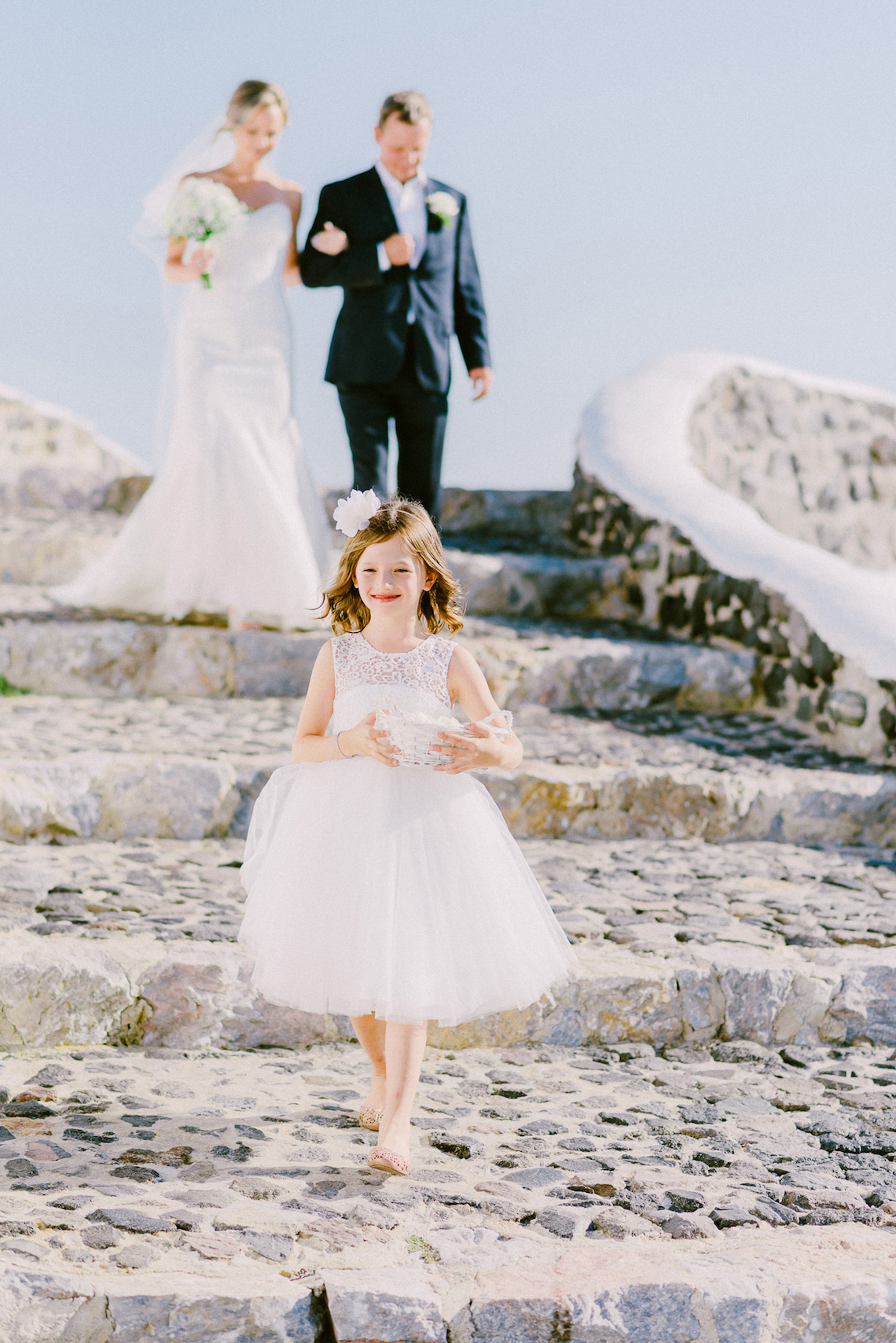 Classy Santorini Destination Wedding (With Amazing Caldera Views!) | Elias Kordelakos 14