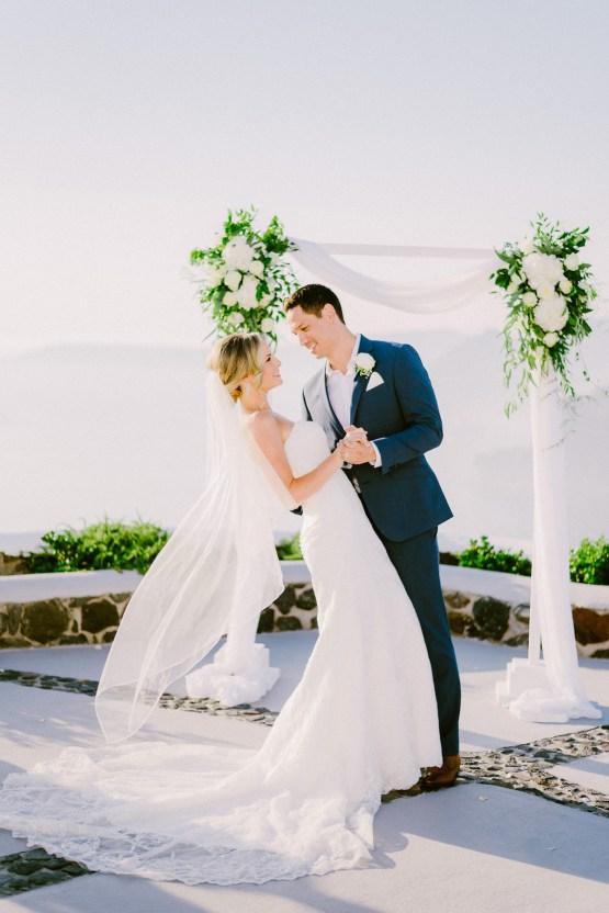 Classy Santorini Destination Wedding (With Amazing Caldera Views!) | Elias Kordelakos 16