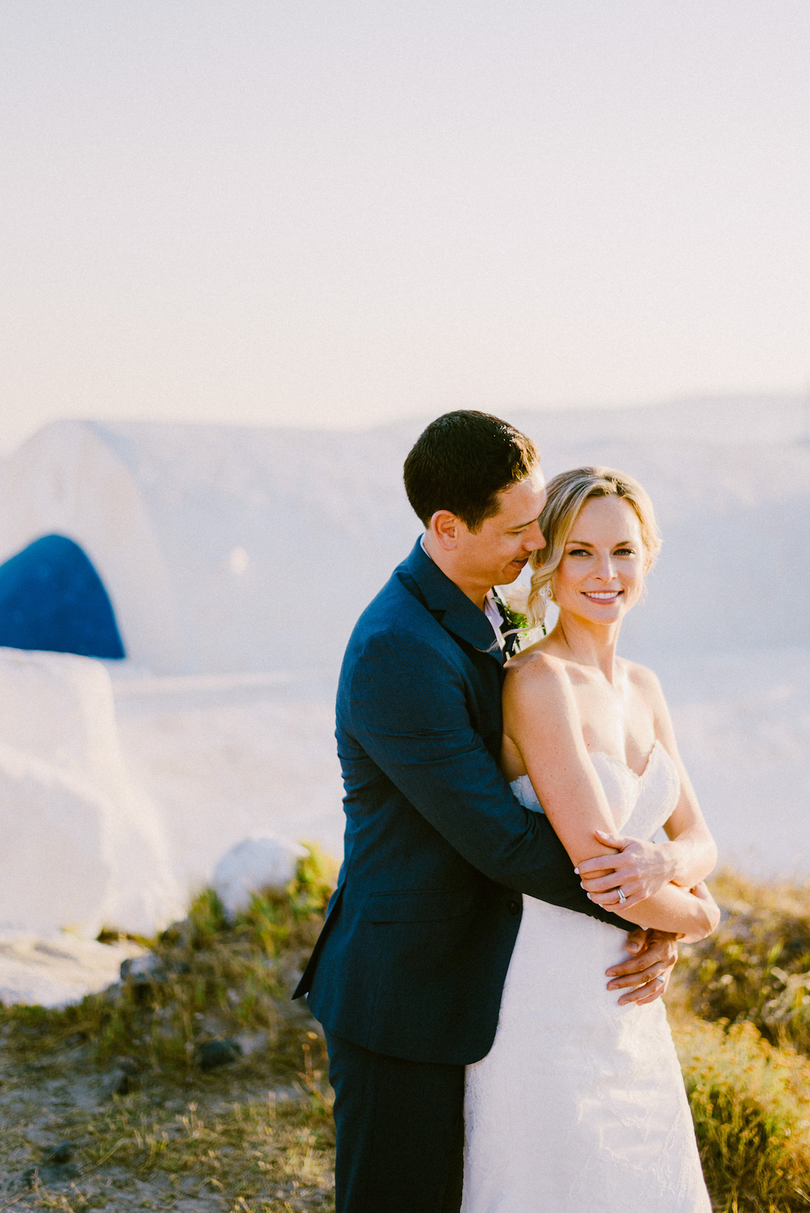 Classy Santorini Destination Wedding (With Amazing Caldera Views!) | Elias Kordelakos 19
