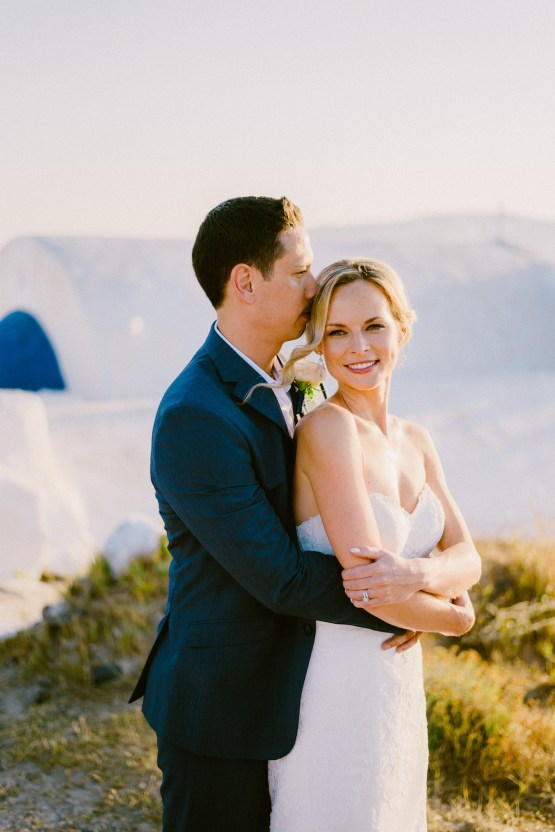 Classy Santorini Destination Wedding (With Amazing Caldera Views!) | Elias Kordelakos 20