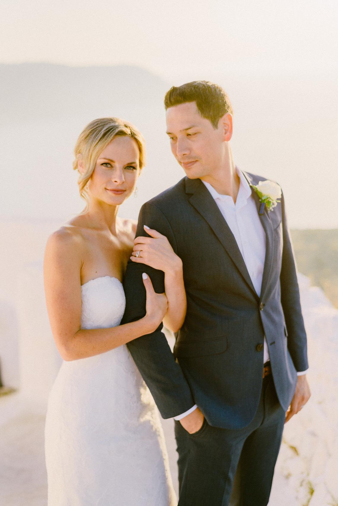 Classy Santorini Destination Wedding (With Amazing Caldera Views!) | Elias Kordelakos 24