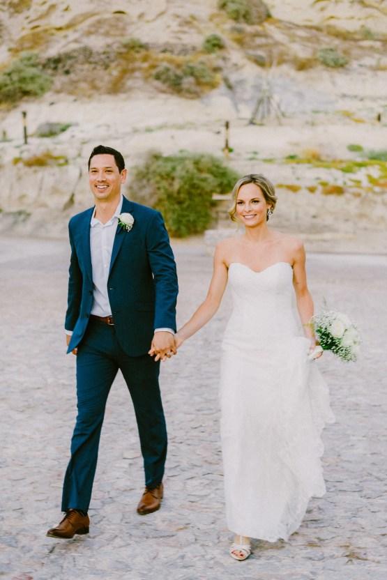 Classy Santorini Destination Wedding (With Amazing Caldera Views!) | Elias Kordelakos 33