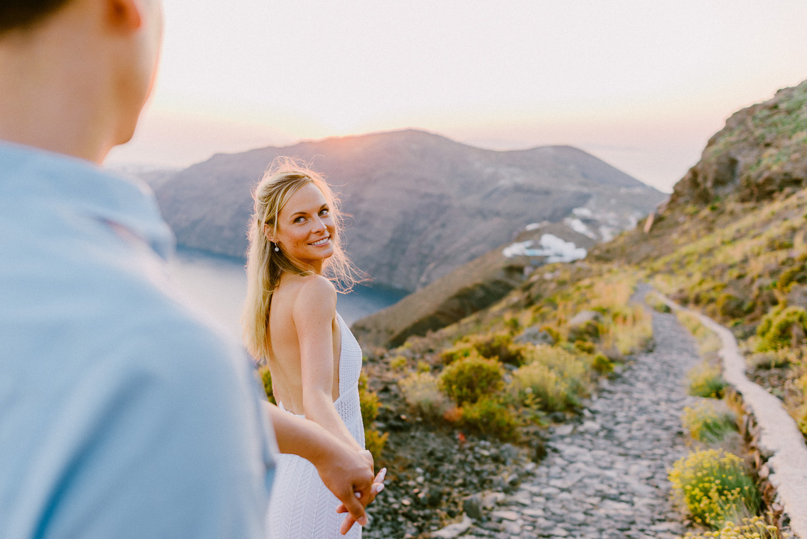 Classy Santorini Destination Wedding (With Amazing Caldera Views!) | Elias Kordelakos 37