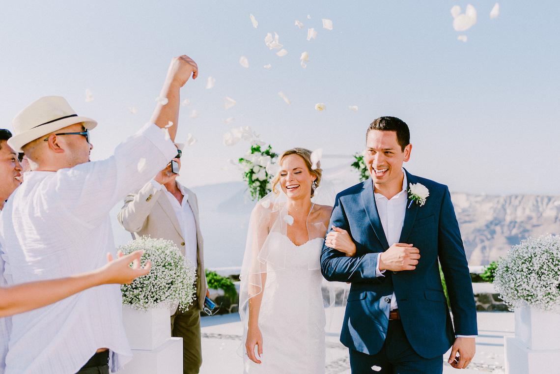 Classy Santorini Destination Wedding (With Amazing Caldera Views!) | Elias Kordelakos 42