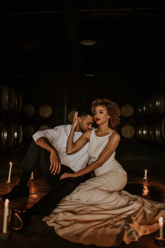 Industrial Cool Meats Winery Warmth; Candlelit Wedding Ideas | The Gifford Collective | Genesis Geiger 29