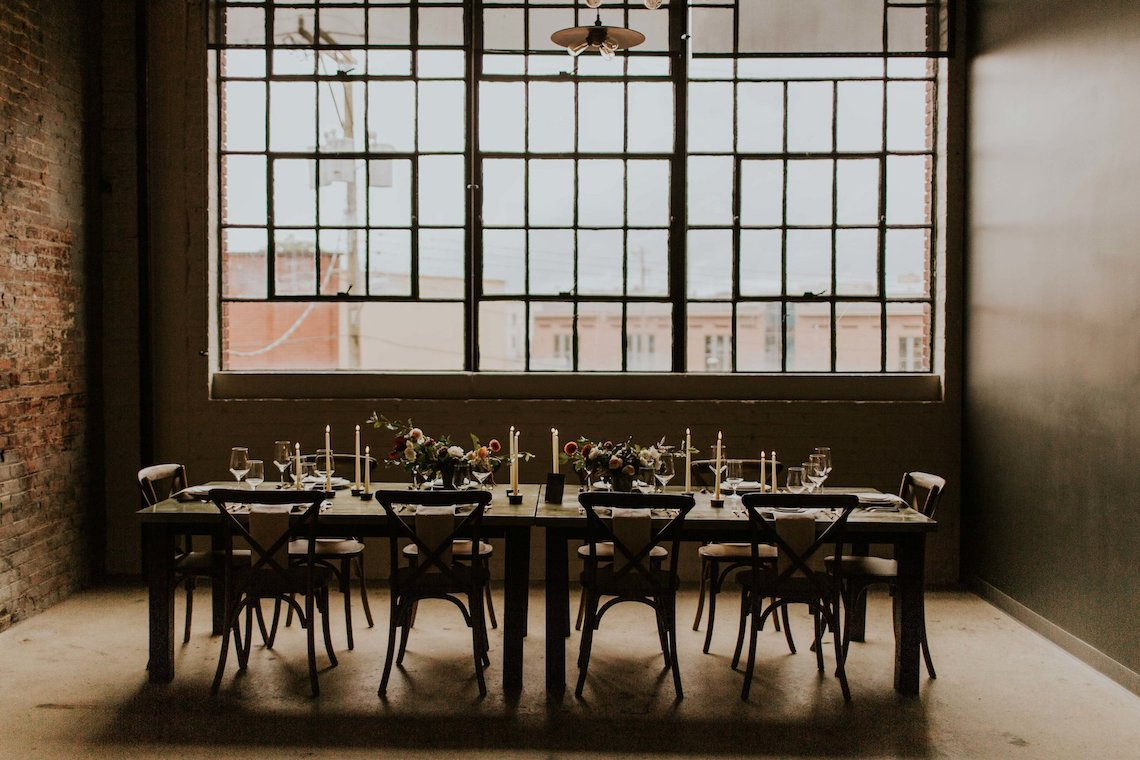 Industrial Cool Meats Winery Warmth; Candlelit Wedding Ideas | The Gifford Collective | Genesis Geiger 37