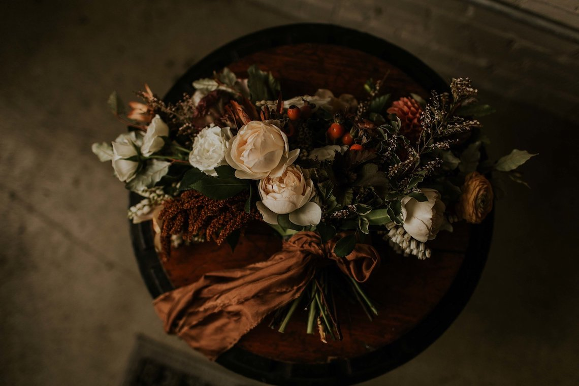 Industrial Cool Meats Winery Warmth; Candlelit Wedding Ideas | The Gifford Collective | Genesis Geiger 40