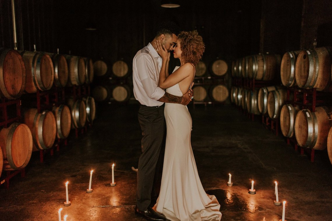 Industrial Cool Meats Winery Warmth; Candlelit Wedding Ideas | The Gifford Collective | Genesis Geiger 45