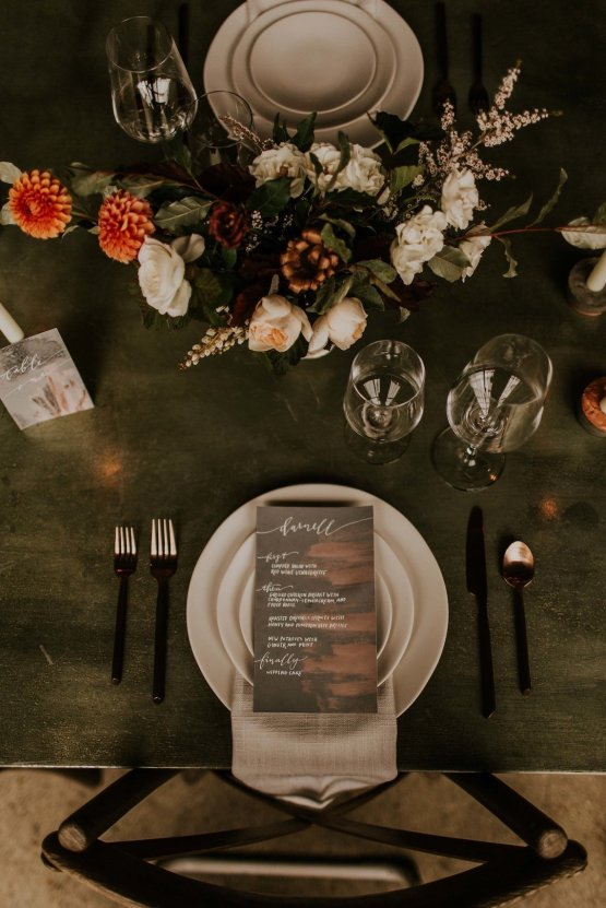 Industrial Cool Meats Winery Warmth; Candlelit Wedding Ideas | The Gifford Collective | Genesis Geiger 9