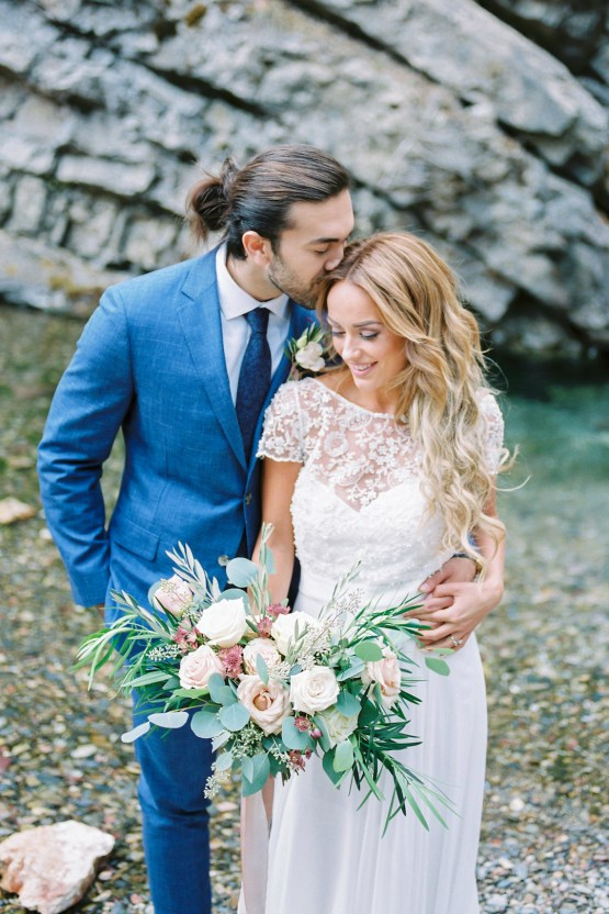Waterfalls & Watercolors; Dreamy Blue Wedding Ideas | Minted Photography 3