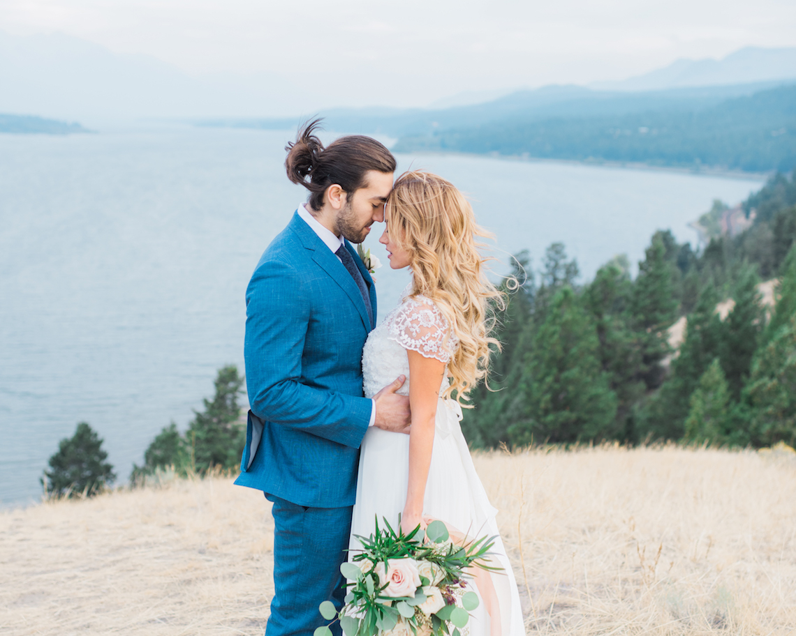 Waterfalls & Watercolors; Dreamy Blue Wedding Ideas | Minted Photography 45