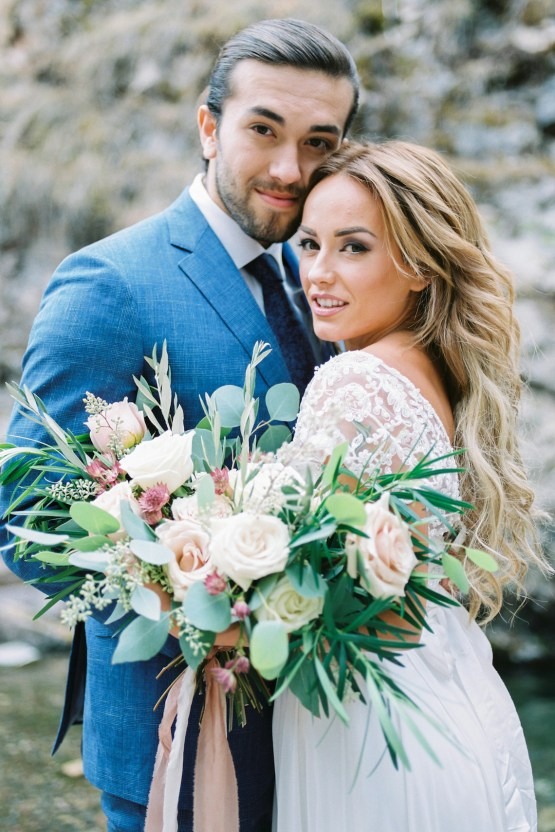 Waterfalls & Watercolors; Dreamy Blue Wedding Ideas | Minted Photography 5