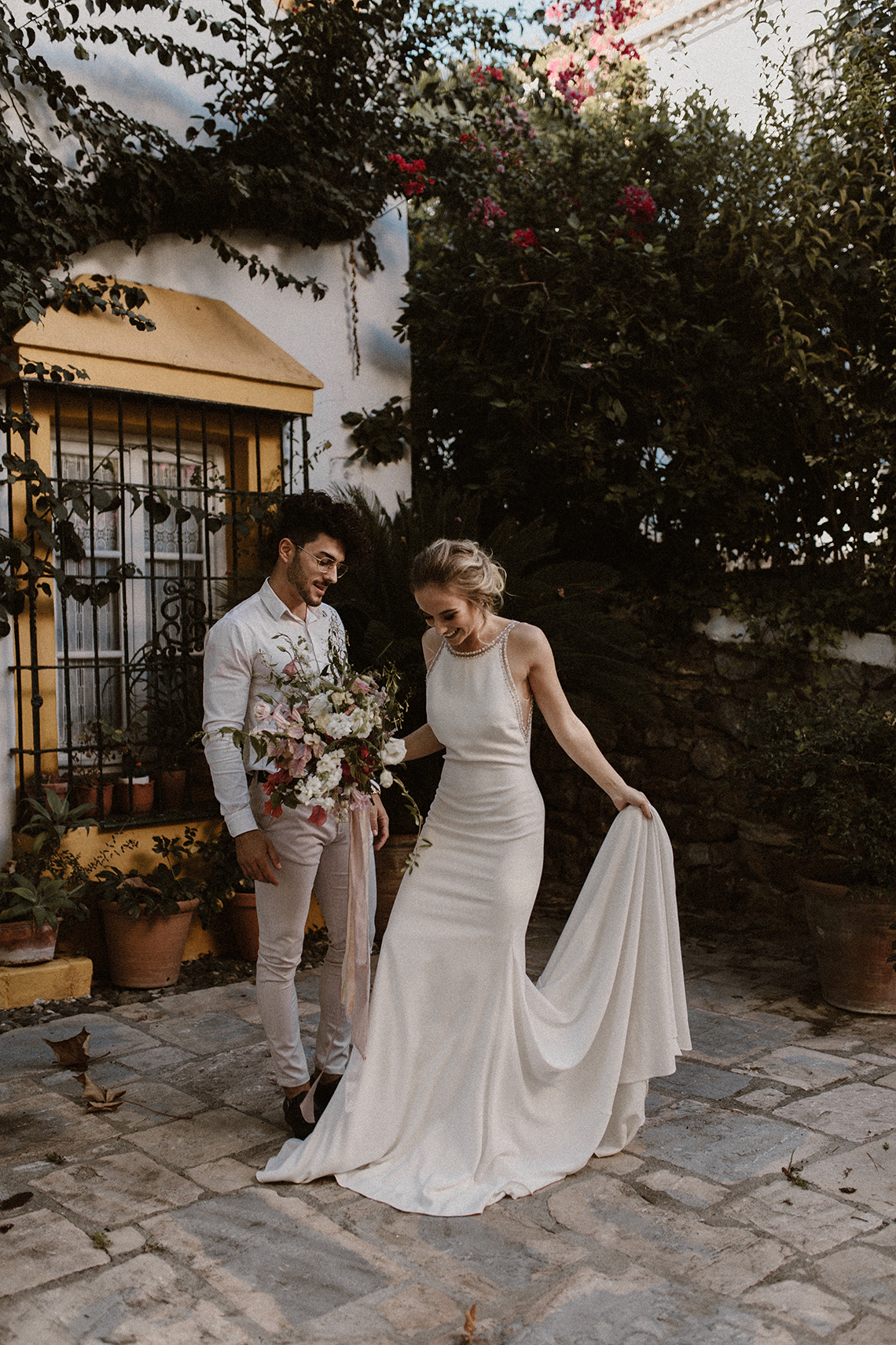 Bougainvillea Wedding Inspiration With Modern Silk Gowns | IDO Events | Kevin Klein 10
