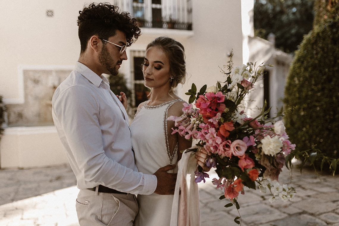 Bougainvillea Wedding Inspiration With Modern Silk Gowns | IDO Events | Kevin Klein 41
