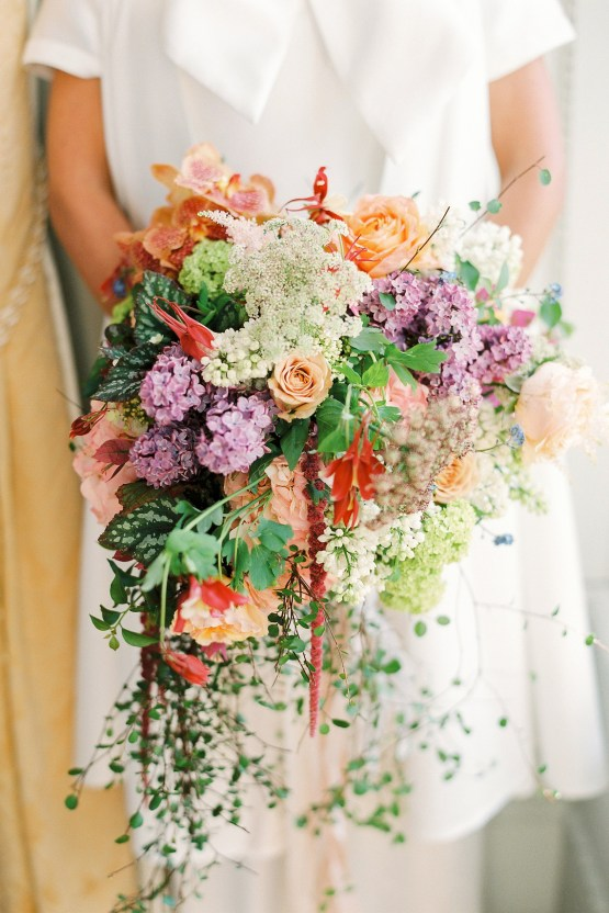 Citrus & Peach Chateau Wedding Inspiration | Lucy Davenport 20