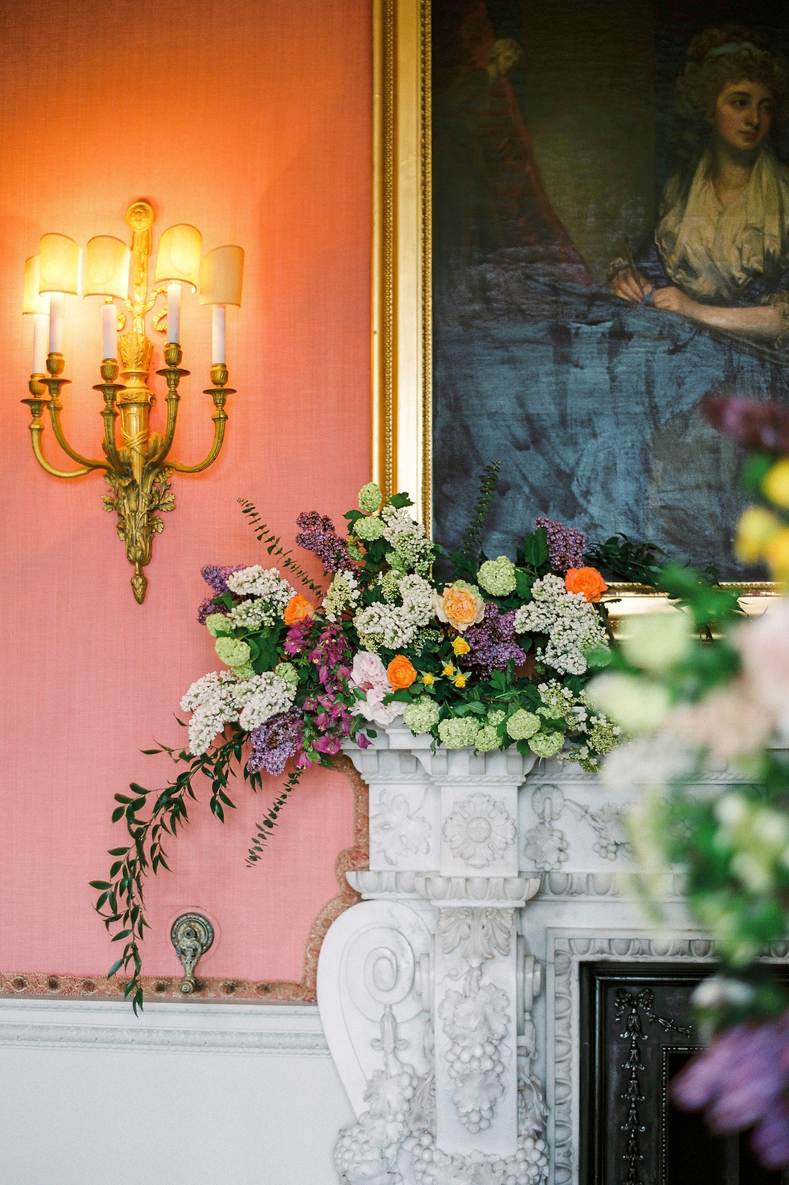 Citrus & Peach Chateau Wedding Inspiration | Lucy Davenport 3