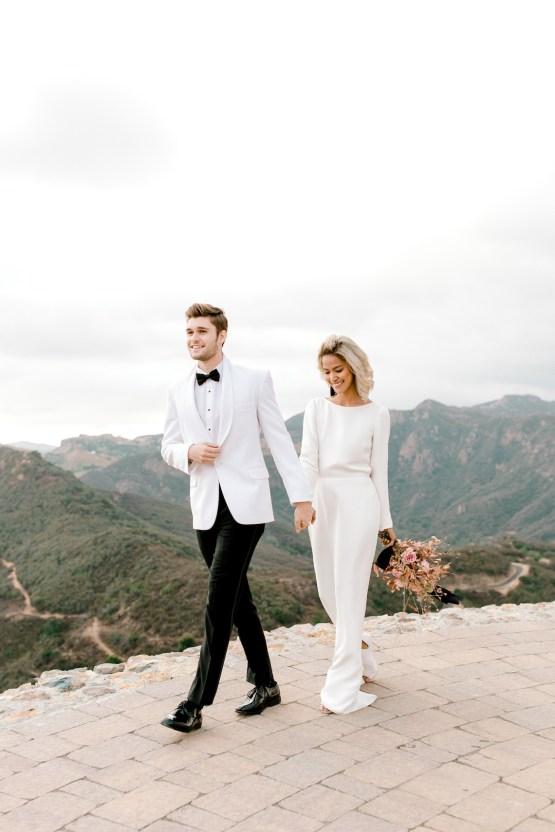 Fashion-forward Black & White Wedding Ideas From Malibu | Babsy Ly 11