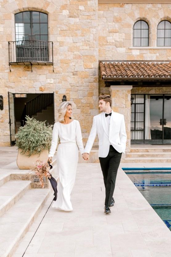 Fashion-forward Black & White Wedding Ideas From Malibu | Babsy Ly 25