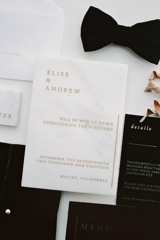 Fashion-forward Black & White Wedding Ideas From Malibu | Babsy Ly 32