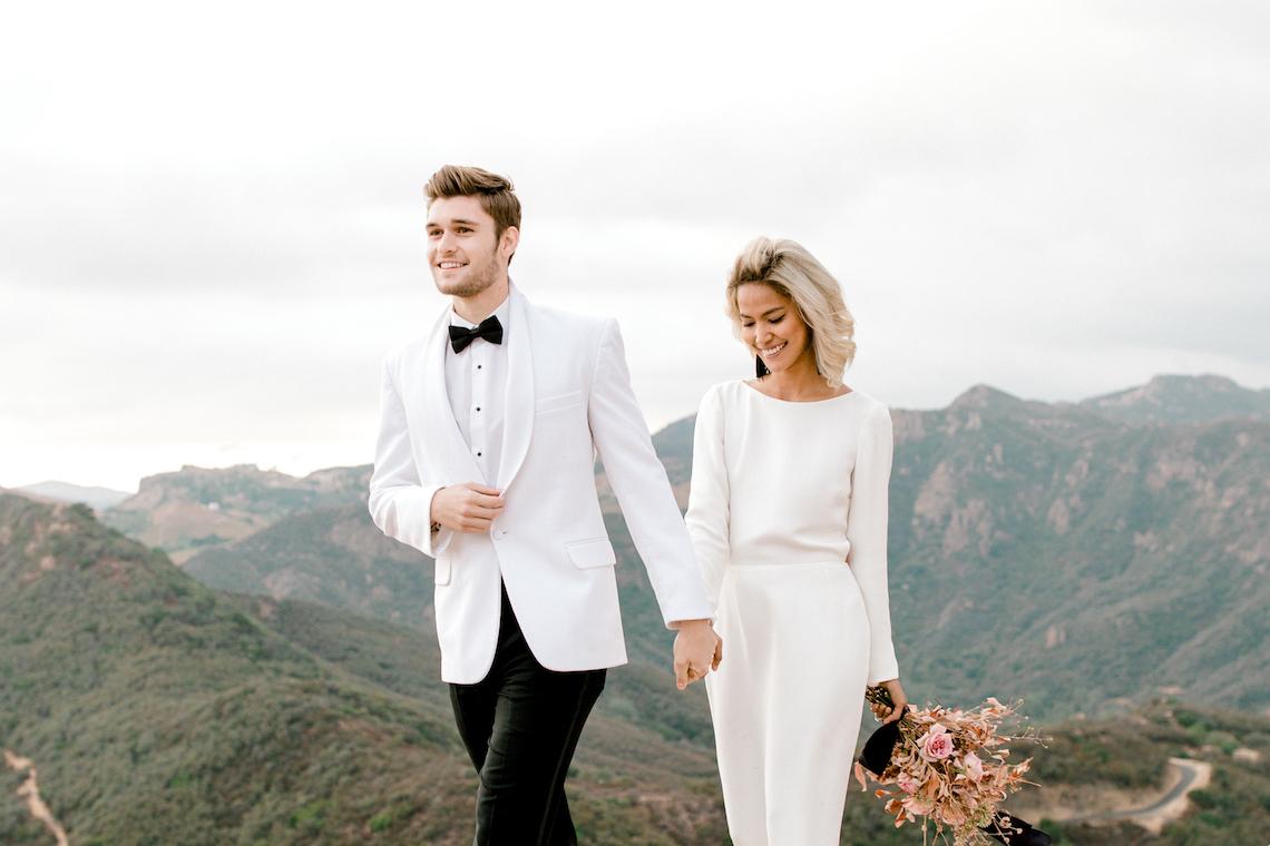 Fashion-forward Black & White Wedding Ideas From Malibu | Babsy Ly 38