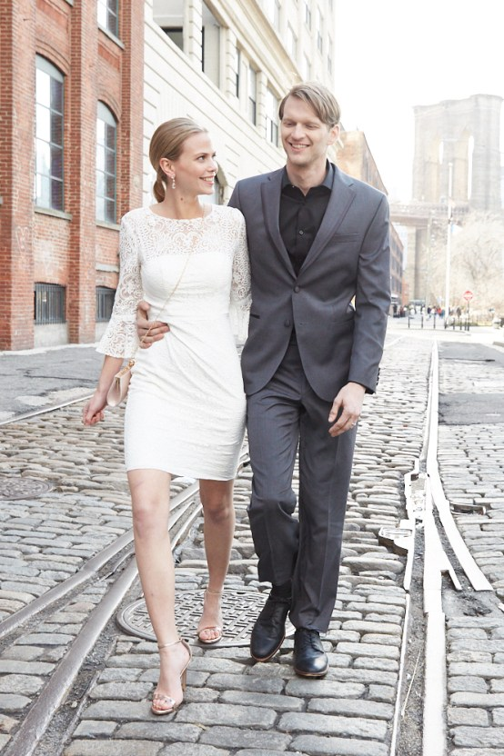 How To Style Your Intimate Wedding – The Elopement Fashion Guide | David's Bridal Little White Dresses 35
