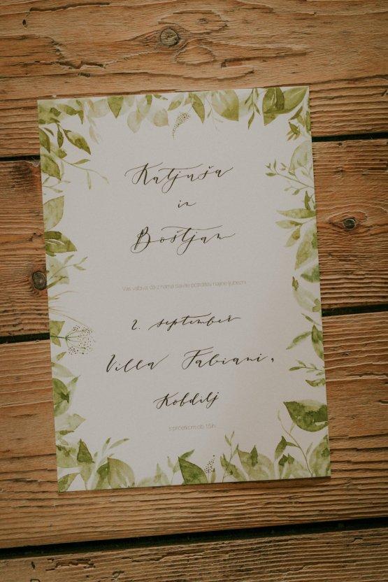 Monstera Leaves & Artichokes; A Hip Slovenian Wedding | Karen Willis Holmes Bridal | Aljosa Videtic 15