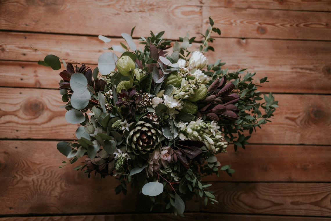 Monstera Leaves & Artichokes; A Hip Slovenian Wedding | Karen Willis Holmes Bridal | Aljosa Videtic 2