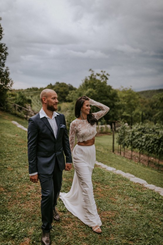 Monstera Leaves & Artichokes; A Hip Slovenian Wedding | Karen Willis Holmes Bridal | Aljosa Videtic 33