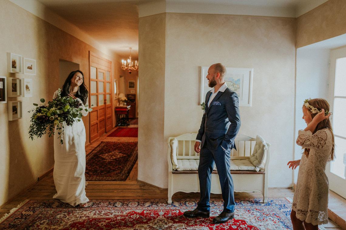 Monstera Leaves & Artichokes; A Hip Slovenian Wedding | Karen Willis Holmes Bridal | Aljosa Videtic 4