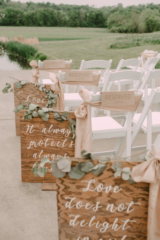 Pretty Pink Countryside Wedding (With Cute Aisle Signage) | Barkerture Photo 25