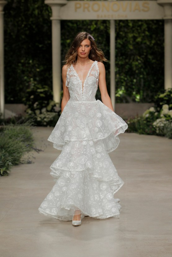Pronovias 2019 In Bloom Wedding Dress Collection | Calipso