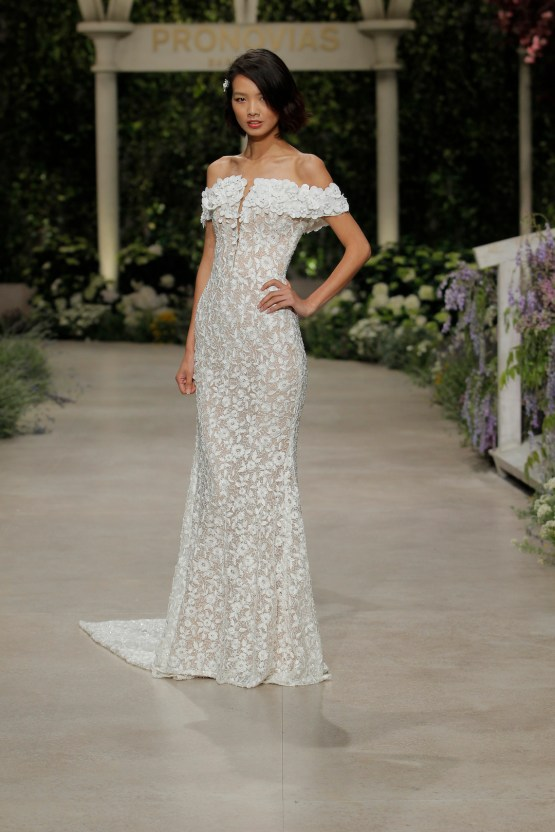 Pronovias 2019 In Bloom Wedding Dress Collection | Carla