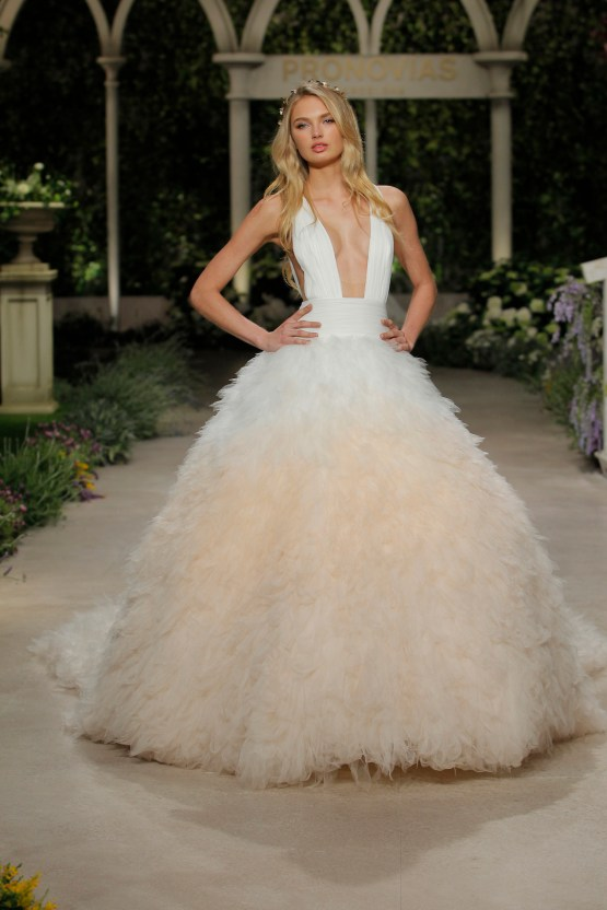 Pronovias 2019 In Bloom Wedding Dress Collection | Clemence