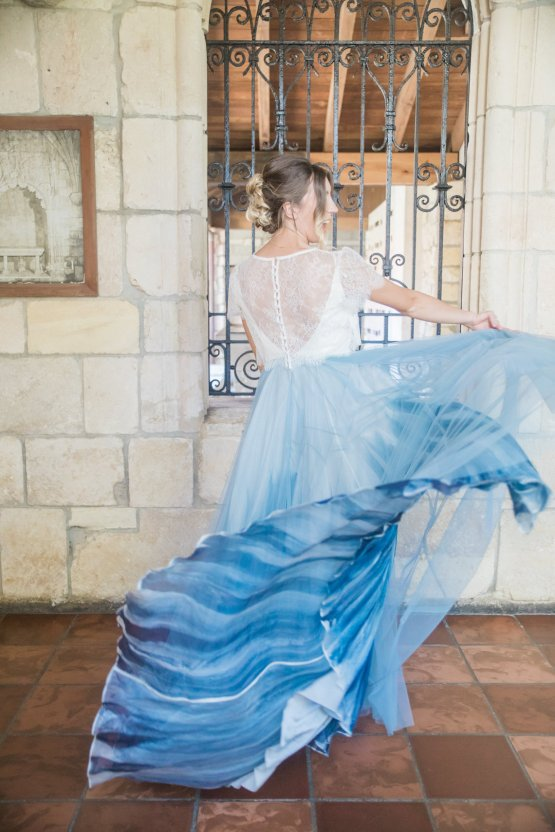 Romantic Watercolor Ideas Featuring A Blue Wedding Dress   Cana Rose Photography 11