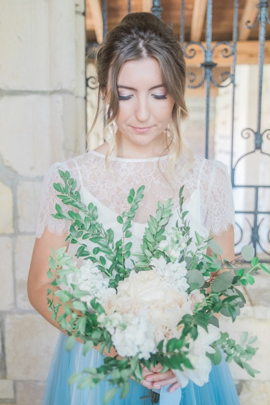 Romantic Watercolor Ideas Featuring A Blue Wedding Dress   Cana Rose Photography 12