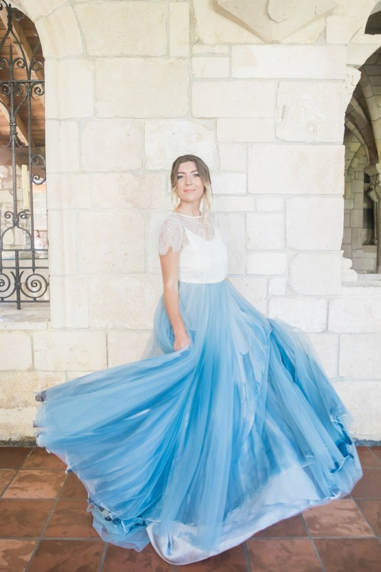 Romantic Watercolor Ideas Featuring A Blue Wedding Dress   Cana Rose Photography 15
