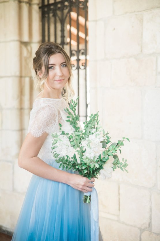 Romantic Watercolor Ideas Featuring A Blue Wedding Dress   Cana Rose Photography 16