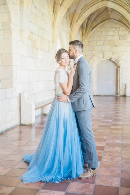 Romantic Watercolor Ideas Featuring A Blue Wedding Dress   Cana Rose Photography 17