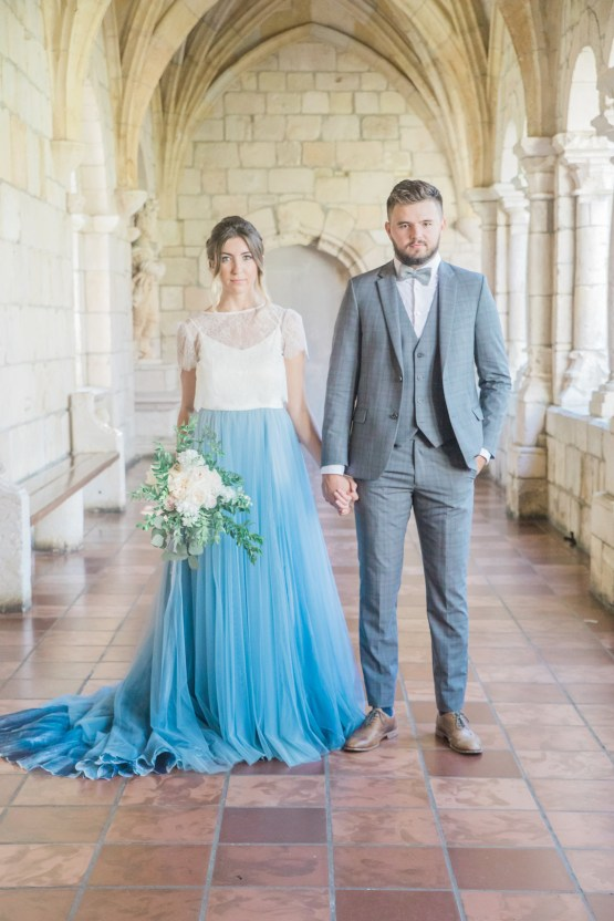 Romantic Watercolor Ideas Featuring A Blue Wedding Dress   Cana Rose Photography 19