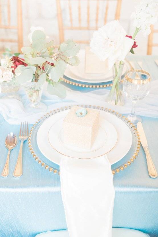 Romantic Watercolor Ideas Featuring A Blue Wedding Dress | Cana Rose Photography 21