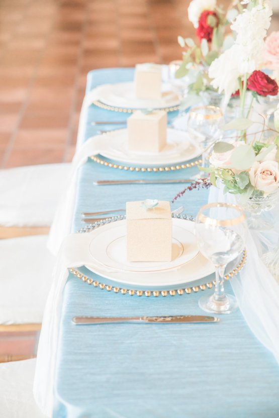 Romantic Watercolor Ideas Featuring A Blue Wedding Dress   Cana Rose Photography 23