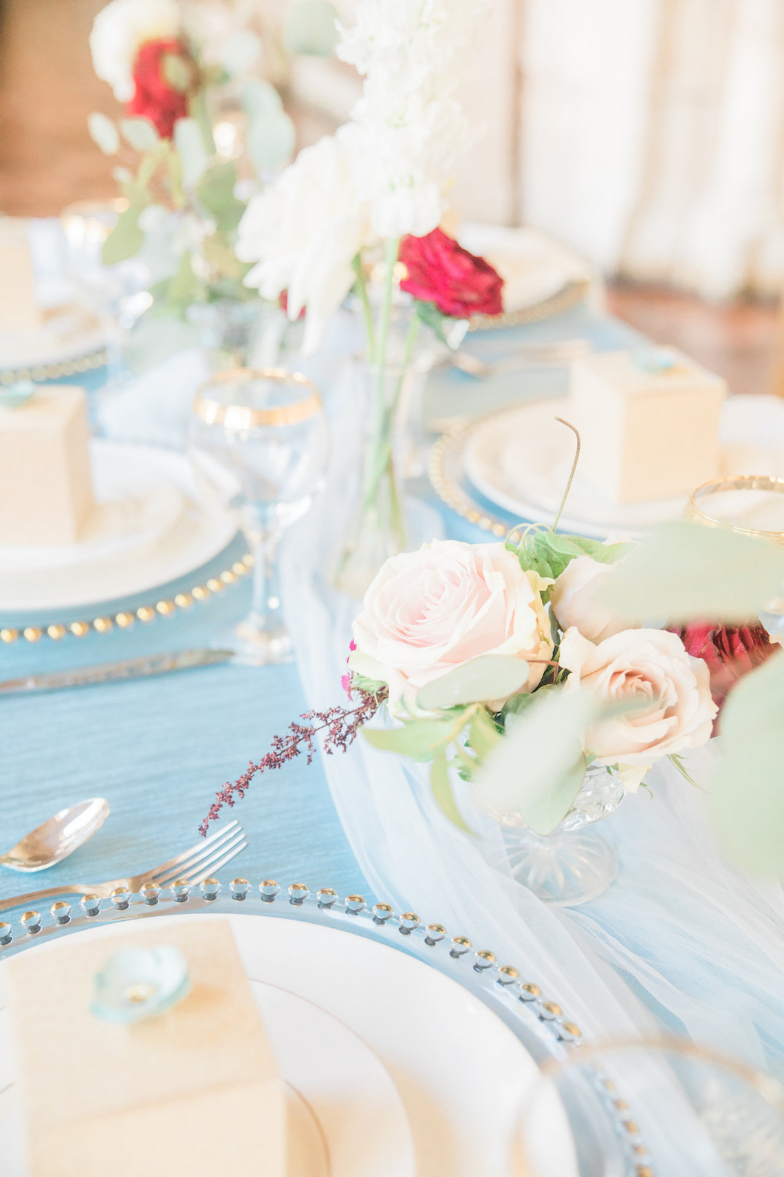 Romantic Watercolor Ideas Featuring A Blue Wedding Dress | Cana Rose Photography 24
